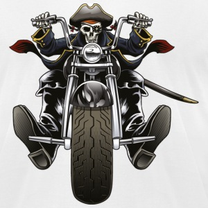 Biker Skull - Men's T-Shirt by American Apparel