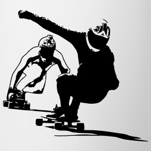 Downhill Longboarder in Action Accessories - Coffee/Tea Mug