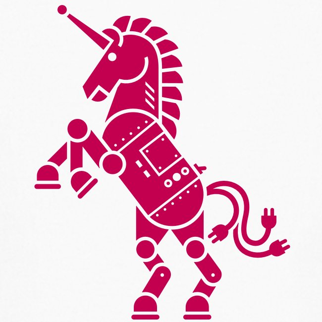 Robicorn Dark Pink on White