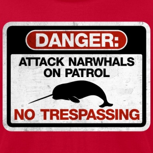 Attack Narwhals on Patrol  - Vintage T-Shirts - Men's T-Shirt by American Apparel