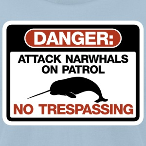 Attack Narwhals on Patrol T-Shirts - Men's T-Shirt by American Apparel