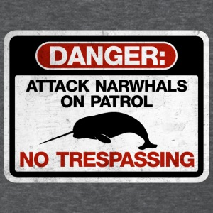 Attack Narwhals on Patrol  - Vintage Women's T-Shirts - Women's T-Shirt