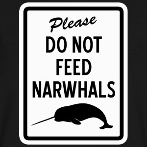 Do Not Feed Narwhals T-Shirts - Men's V-Neck T-Shirt by Canvas