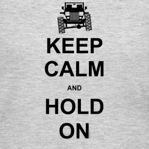 Keep Calm and Hold On - Jeep Wrangler - Women's Long Sleeve Jersey T-Shirt