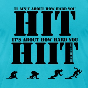 HIIT - Men's T-Shirt by American Apparel