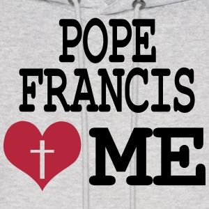 Pope Francis loves me Hoodies - Men's Hoodie