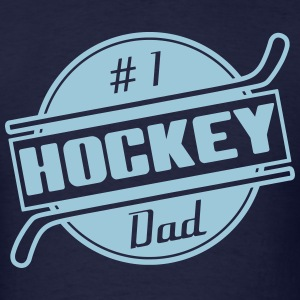 #1 Hockey Dad T-Shirts - Men's T-Shirt