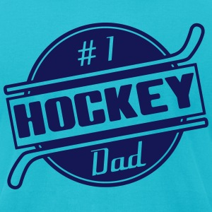 #1 Hockey Dad T-Shirts - Men's T-Shirt by American Apparel