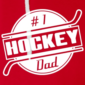 #1 Hockey Dad Zip Hoodies/Jackets - Unisex Fleece Zip Hoodie by American Apparel