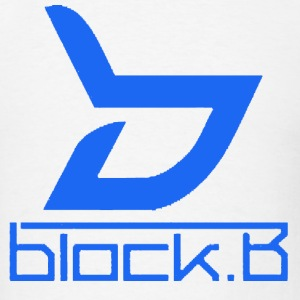 Block B Logo Blue Ver. T-Shirts - Men's T-Shirt