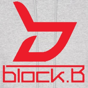 Block B Logo Red Ver. Hoodies - Men's Hoodie