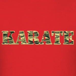 Karate camouflage mens red shirt - Men's T-Shirt