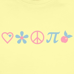 love, peace and cherry pi (2c) Baby Bodysuits - Short Sleeve Baby Bodysuit