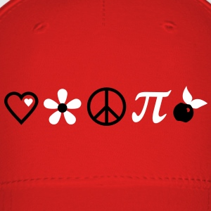 love, peace and cherry pi (2c) Caps - Baseball Cap