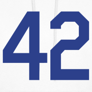 Design ~ Jackie Robinson 42 Girls Womens Hoodie Hooded Sweatshirt