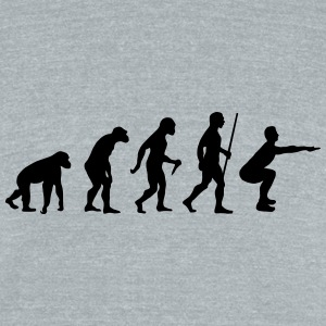 Evolution - Squat T-Shirts - Unisex Tri-Blend T-Shirt by American Apparel