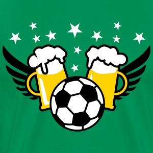 Football Fussball BEER Star International 3c men's - Men's Premium T-Shirt