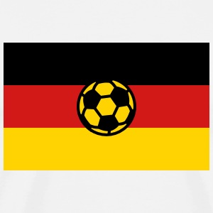 German Football Fussball Germany Flag 3c men's Fan - Men's Premium T-Shirt