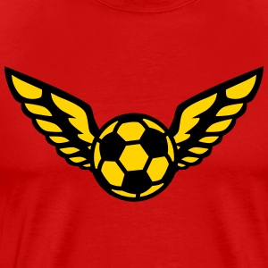 Football Fussball Wings Star International 2c men' - Men's Premium T-Shirt