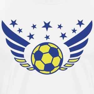 Football Futbol Wings Star Ukraine Ukraina 2c men' - Men's Premium T-Shirt
