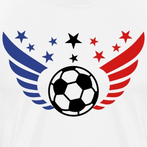 Football Fussball Wings Star International 3c men' - Men's Premium T-Shirt