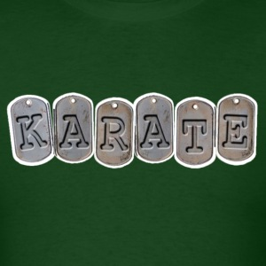 Karate mans shirt military design - Men's T-Shirt