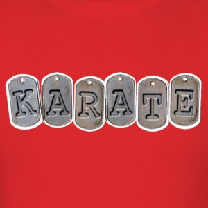 Martial Arts Mens Karate Dog Tag T Shirt - Men's T-Shirt