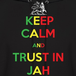 Keep Calm and Trust in Jah Hoodies - Men's Hoodie