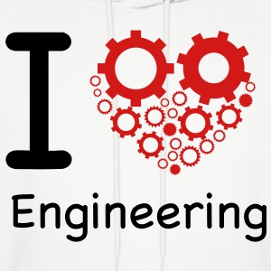 i love engineering Hoodies - Men's Hoodie