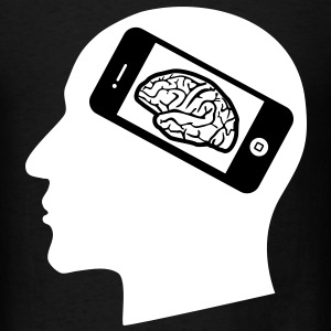iBrain, Brain, Cell Phone, iphone T-Shirts - Men's T-Shirt