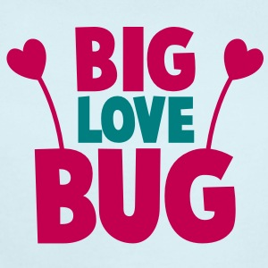 BIG LOVE BUG with cute little antennae Baby Bodysuits - Short Sleeve Baby Bodysuit