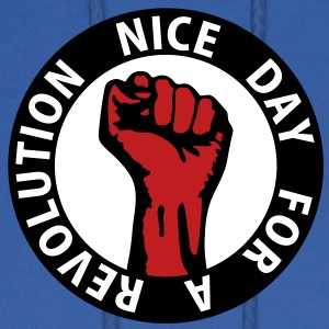3 colors - nice day for a revolution Working Class Hoodies - Men's Hoodie