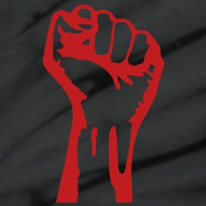 1 color - powerful class war revolution fist iron T-Shirts - Unisex Tie Dye T-Shirt