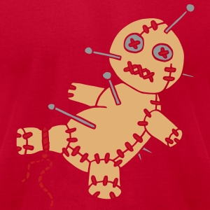 3 col - funny game voodoo doll hawaii tattoo style T-Shirts - Men's T-Shirt by American Apparel