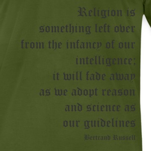 Bertrand Russell - Religion is Something Left Over - Men's T-Shirt by American Apparel