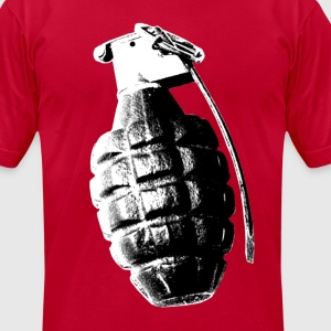 MK2 Fragmentation Grenade (2 Sided) - Men's T-Shirt by American Apparel
