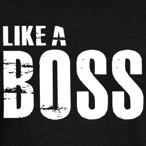 Like a Boss T-Shirt - Women's Wideneck Sweatshirt