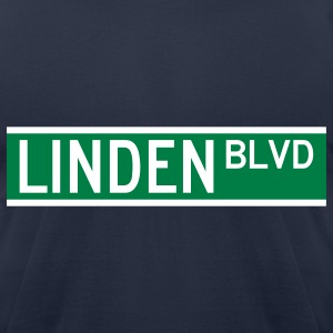 LINDEN BLVD SIGN T-Shirts - Men's T-Shirt by American Apparel