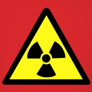 Radioactive Warning Symbol T-Shirts - Men's T-Shirt