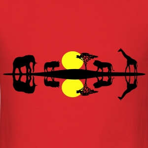 Africa Savanna, Reflection T-Shirts - Men's T-Shirt