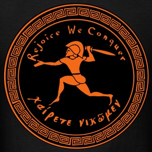 Rejoice We Conquer - Men's 2 Colors on Black - Men's T-Shirt