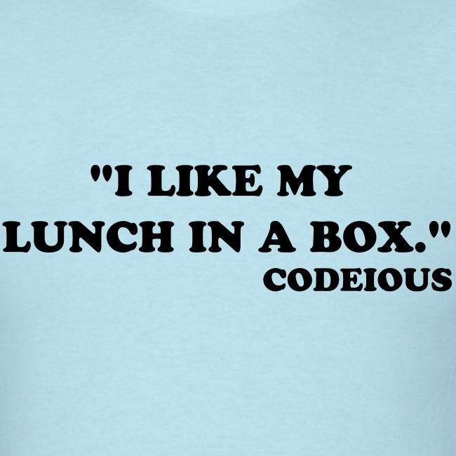 I Like My Lunch In A Box