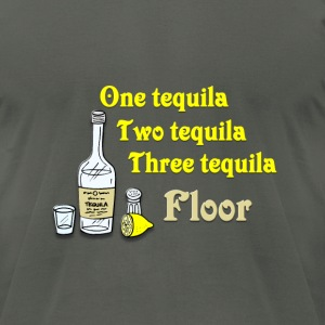 One tequila, Two tequila, Three Tequila, Flour T-Shirts - Men's T-Shirt by American Apparel