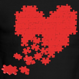 heart puzzle T-Shirts - Men's Ringer T-Shirt