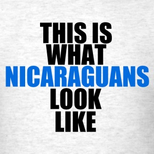 Camisa: This is what Nicaraguans Look Like - Men's T-Shirt