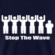 Design ~ Men's Navy/White Stop The Wave Logo T-Shirt