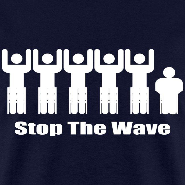Men's Navy/White Stop The Wave Logo T-Shirt