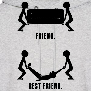 Best Friends HD VECTOR Hoodies - Men's Hoodie