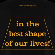 Design ~ Men's FRONT/BACK: CC/best shape (black)