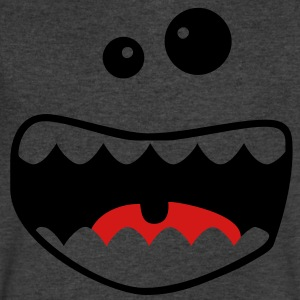 monster face T-Shirts - Men's V-Neck T-Shirt by Canvas